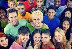 Conceito diverso da comunidade do eam de TogethernessT dos amigos dos povos fotos de stock royalty free