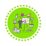 Conceito do ícone da análise financeira liso ilustração stock