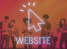 Conceito do ícone do clique do cursor da seta foto de stock
