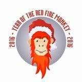 Conceito do ícone do vetor do mokey do fogo vermelho Fotografia de Stock Royalty Free