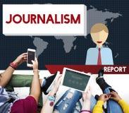 Conceito do índice do artigo da entrevista da notícia do jornalismo fotos de stock