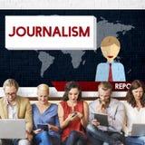 Conceito do índice do artigo da entrevista da notícia do jornalismo imagens de stock royalty free