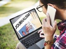 Conceito do índice do artigo da entrevista da notícia do jornalismo fotografia de stock royalty free