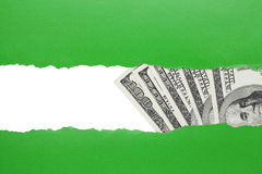 Conceito do achado do dinheiro Fotografia de Stock