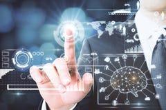 Conceito do AI e da informação Imagem de Stock