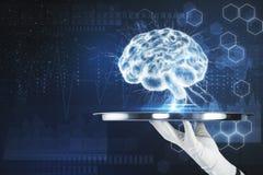 Conceito do AI e da tecnologia Fotografia de Stock