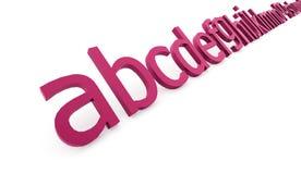 Conceito do alfabeto rendido no fundo branco ilustração stock