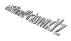 Conceito do alfabeto rendido no fundo branco ilustração royalty free