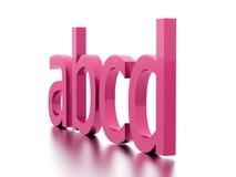 Conceito do alfabeto rendido no fundo branco ilustração do vetor