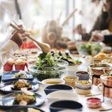 Conceito do alimento da nutrição do restaurante da ocasião da nutrição foto de stock royalty free