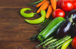 Conceito do alimento do vegetariano Produto-vegetais frescos de vegetables Fotografia de Stock
