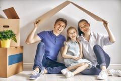 Conceito do alojamento para a família Foto de Stock