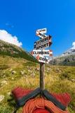 Conceito do alpinismo Imagens de Stock Royalty Free