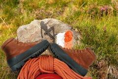 Conceito do alpinismo Fotografia de Stock Royalty Free
