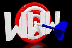 conceito do alvo 3D - ` de WWW do ` ilustração stock