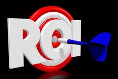 conceito do alvo 3D - ` do ROI do ` Imagem de Stock Royalty Free