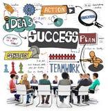 Conceito do alvo do objetivo da realização da melhoria do sucesso Fotos de Stock