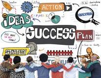 Conceito do alvo do objetivo da realização da melhoria do sucesso Imagem de Stock
