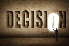 Conceito do alvo, escolha, decisioin Fotografia de Stock