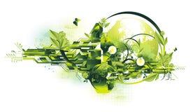 Conceito do ambiente e da energia ilustração do vetor
