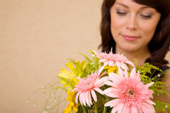 Conceito do amor com flor Foto de Stock