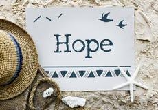 Conceito do amor da esperança da fé da opinião Imagem de Stock Royalty Free