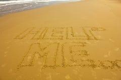 Conceito do amor escrito à mão na areia Imagem de Stock