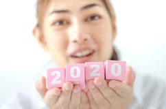 Conceito 2020 do ano foto de stock