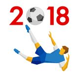 Conceito 2018 do ano novo - Foto de Stock
