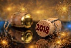 Conceito do ano 2018 novo Fotos de Stock Royalty Free