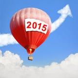 Conceito do ano novo com o balão de ar quente Fotografia de Stock Royalty Free