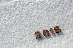 Conceito 2018 do ano novo feliz ilustração stock