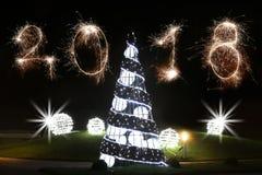 Conceito 2018 do ano novo feliz Imagem de Stock Royalty Free