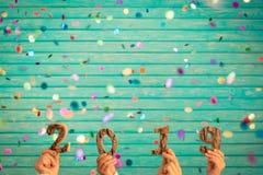 Conceito 2019 do ano novo feliz imagens de stock