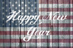 Conceito do ano novo feliz com bandeira americana Imagens de Stock Royalty Free