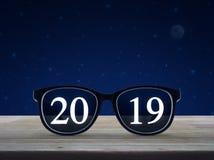 Conceito 2019 do ano novo feliz da visão do negócio ilustração stock