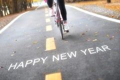 Conceito do ano novo feliz e ideia da motivação do esporte Imagem de Stock Royalty Free
