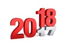 Conceito 2018 do ano novo isolado Imagem de Stock