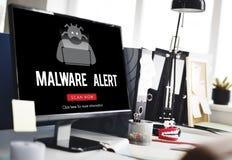 Conceito do Antivirus de Malware do Spyware do vírus de Scam imagem de stock