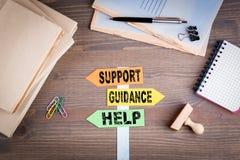 Conceito do apoio, da orientação e da ajuda imagens de stock royalty free