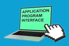 Conceito do Application Program Interface ilustração stock