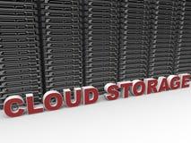 Conceito do armazenamento/da computação da nuvem ilustração royalty free