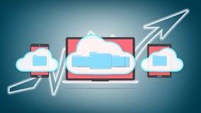 Conceito do armazenamento da nuvem Imagens de Stock