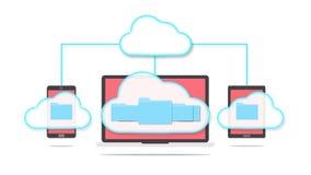 Conceito do armazenamento da nuvem Fotografia de Stock