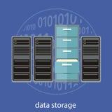 conceito do armazenamento de dados ilustração royalty free