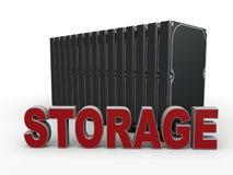 Conceito do armazenamento de dados de Digitas ilustração stock