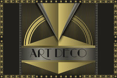 Conceito do art deco Foto de Stock Royalty Free