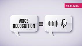 Conceito do assistente pessoal e do reconhecimento de voz em uma bolha do discurso Conceito de tecnologias inteligentes do soundw ilustração do vetor