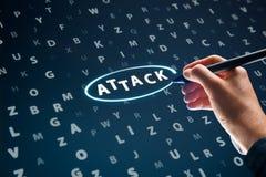 Conceito do ataque do Cyber fotos de stock