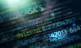 Conceito do ataque do Cyber ilustração do vetor
